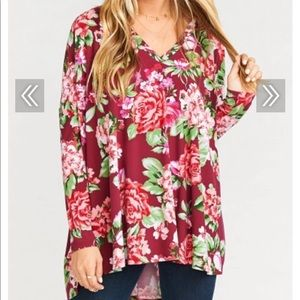 Show me your MuMu floral Skylar Slouch Top